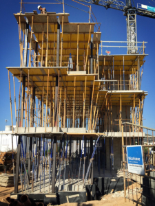 Structure of new building in Jesús.