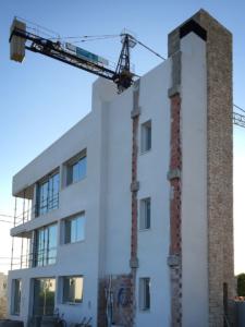 Façade of a newbuild