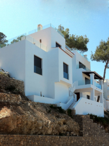Renovated façade on detached family home in Siesta (Ibiza)
